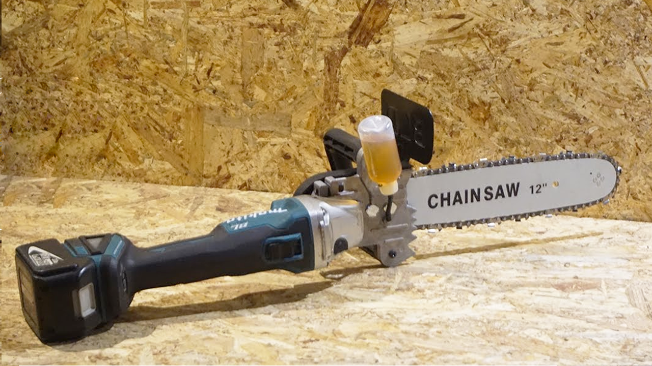 Chainsaw From Angle Grinder for 25$